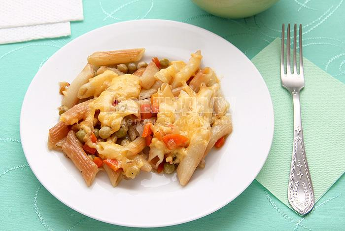 Рецепт жареных макарон с овощами