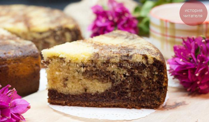 Как приготовить пирог Зебра в мультиварке