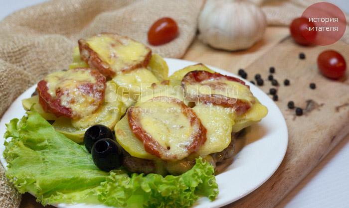 Как приготовить картошку по-французски с фаршем в духовке