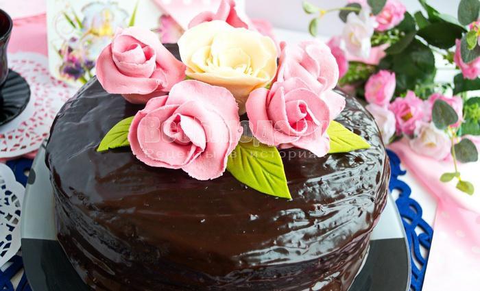 Как сделать розы из мастики для торта