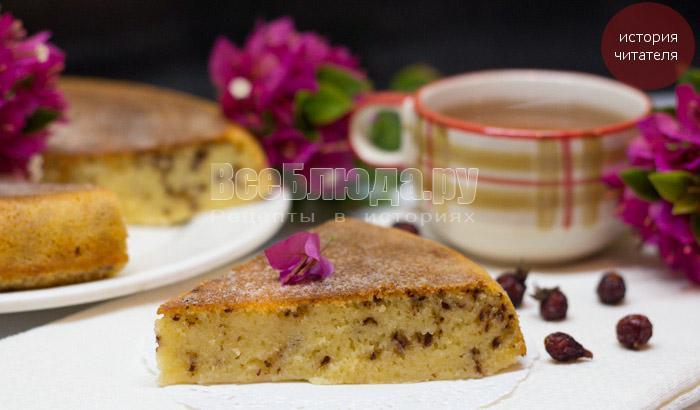 Волшебный пирог примирения (манник с шоколадом)