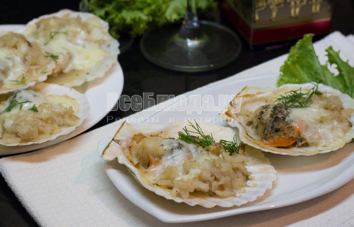 Гребешок рецепты приготовления в кляре рецепт приготовления горбуши в сметане в духовке рецепт
