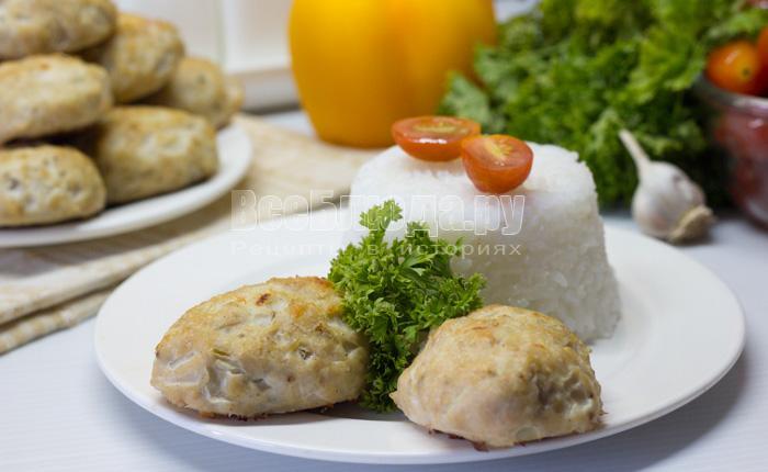 рецепт диетических котлет из куриного филе в духовке