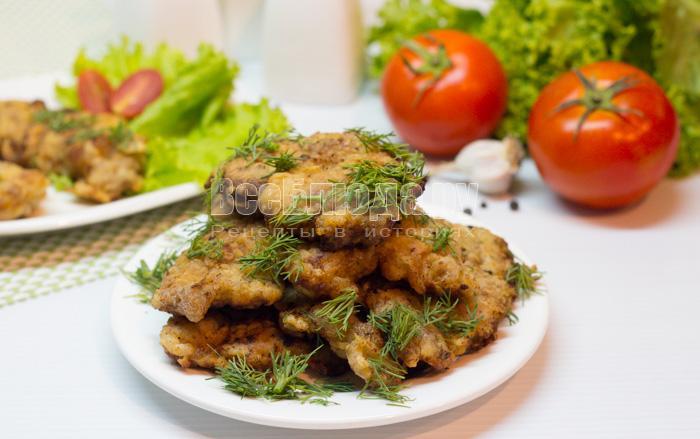 Нежные отбивные из говядины на сковороде