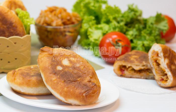 Пирожки с капустой из заварного теста