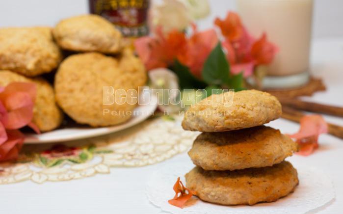 Печенье из овсянки с медом