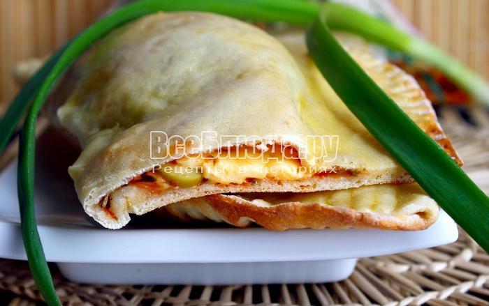 Кальцоне с сыром и оливками, рецепт закрытой пиццы