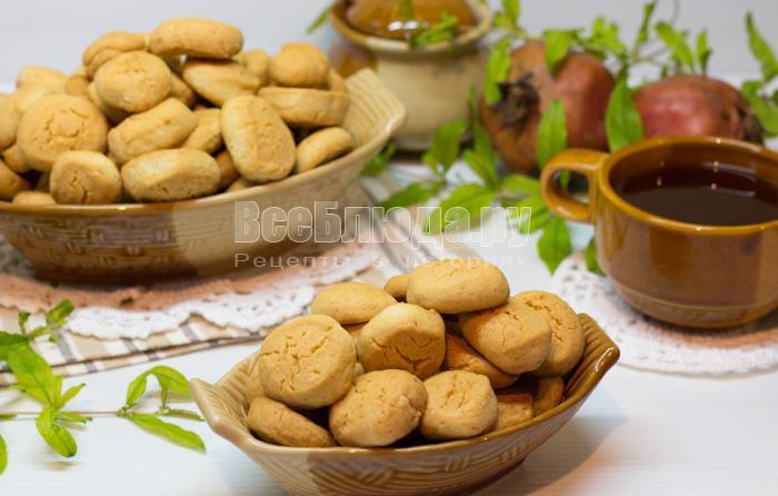 Печенье Капельки (песочное на крахмале)