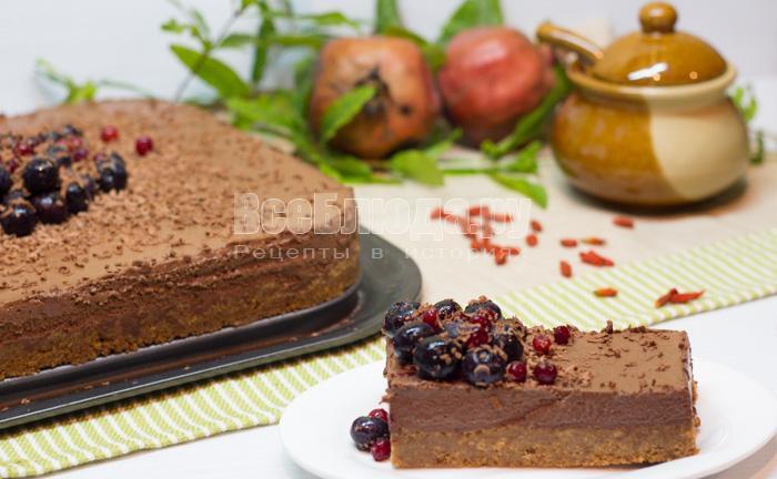 Шоколадно-сливочное пирожное с Маскарпоне