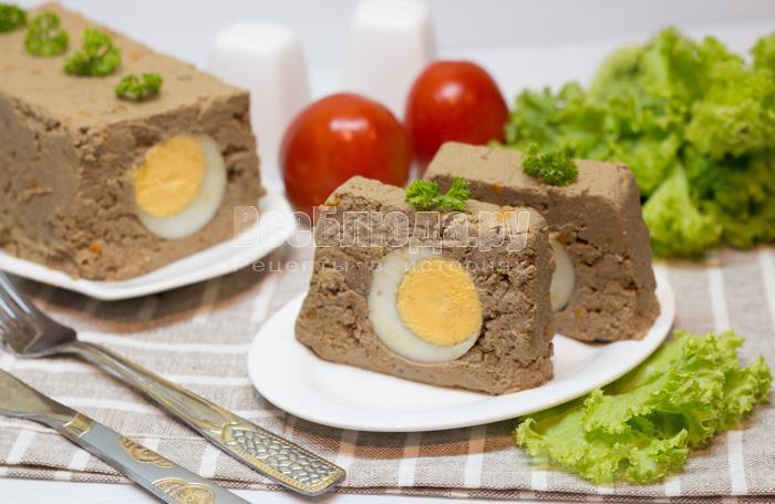Печеночный паштет с яйцами (из куриной печени)