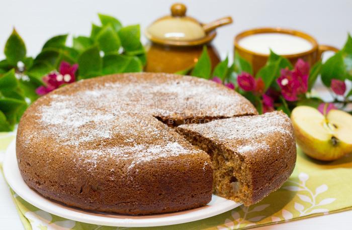 Пирог медовый с яблоками рецепт с