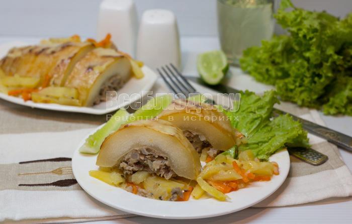 рецепты из кабачков в духовке с картошкой