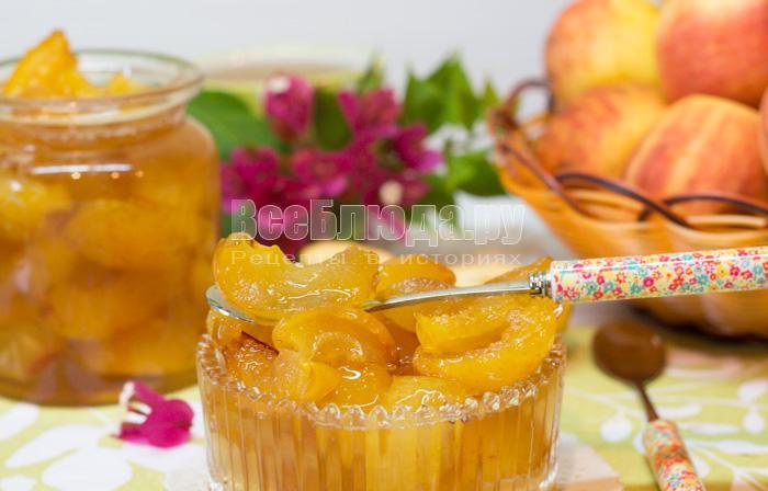 Яблочное варенье дольками с лимонным соком