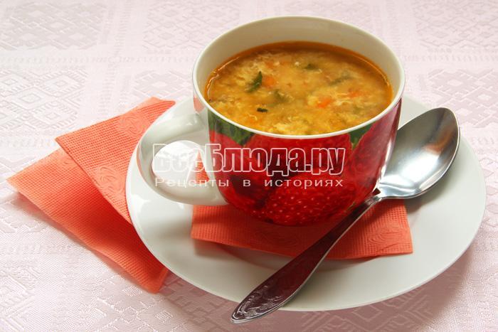 Гороховый суп с яйцом