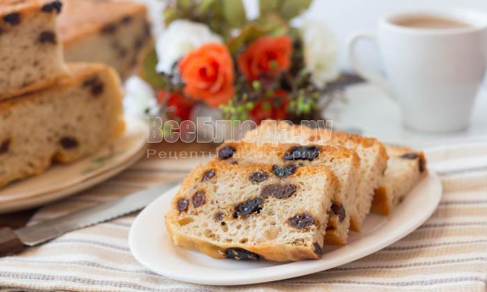 Сладкий хлеб с изюмом в мультиварке