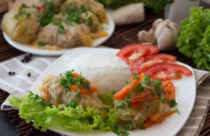Голубцы из пекинской капусты (в мультиварке)