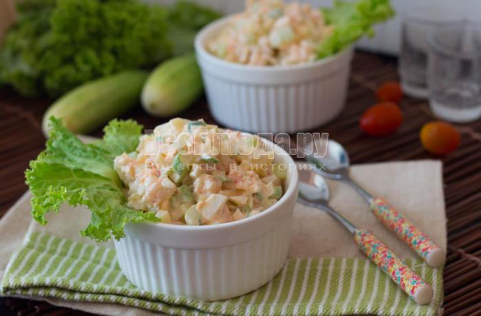 салат из креветок и сыра рецепт и фото