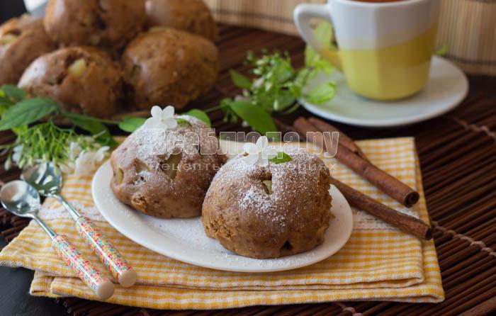Медовое печенье-пряники с яблоками и корицей в мультиварке
