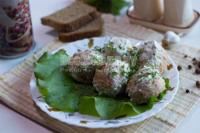 Рыбные тефтели в сметанном соусе Пошаговый рецепт с фото