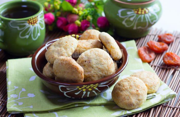 Печенье с курагой и творогом