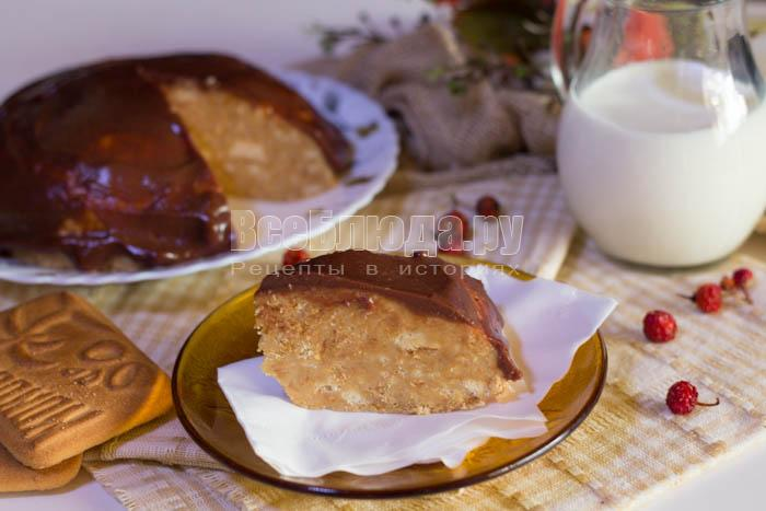 Быстрый торт из печенья (без выпечки) - рецепт с пошаговыми фото