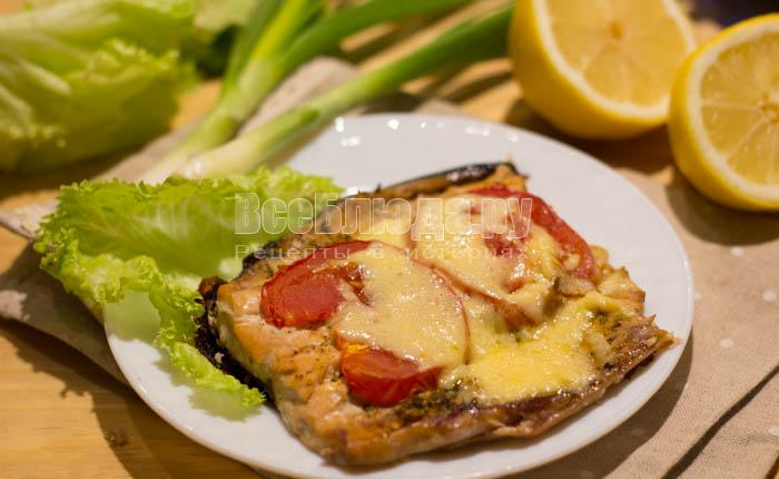 запечь рыбу в духовке рецепт с сыром