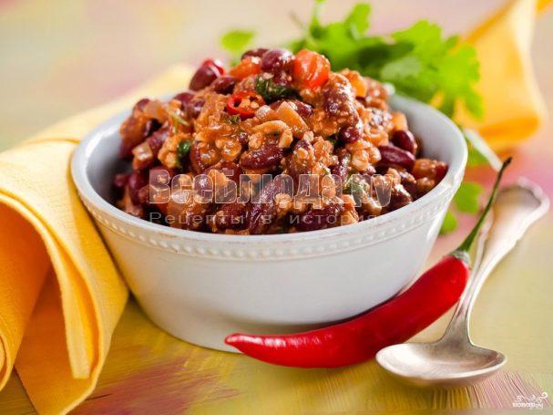 Лобио из красной фасоли – классический рецепт