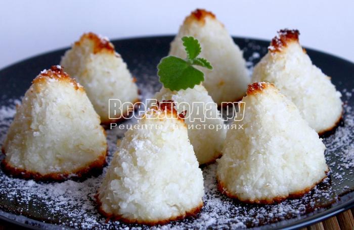 Кокосовое печенье - рецепт без муки