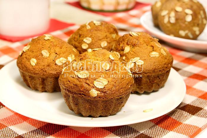 рецепт овсяные кексы с сухофруктами и орехами