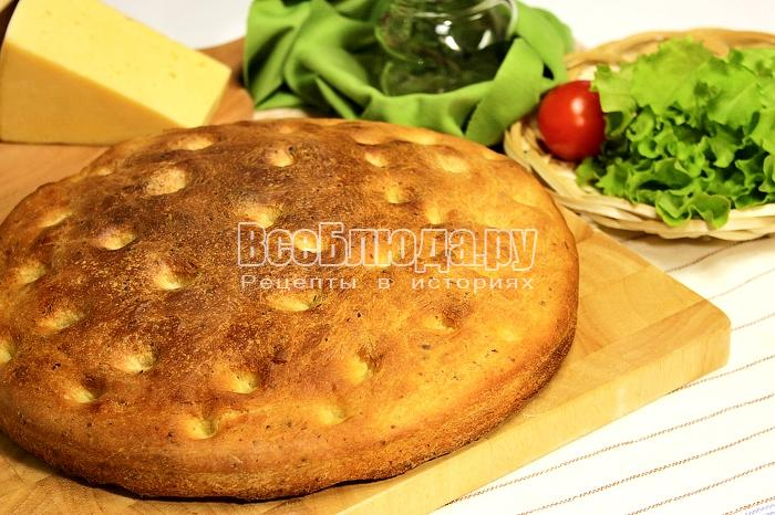 Картофельная фокачча - хлеб в виде лепешки