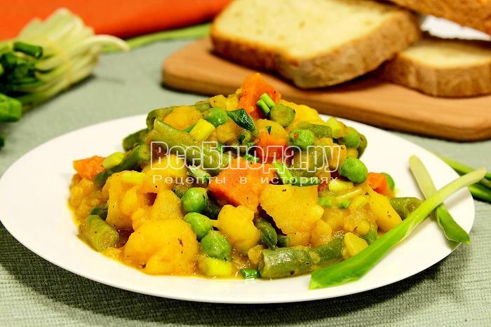 Рагу с черемшой и овощами