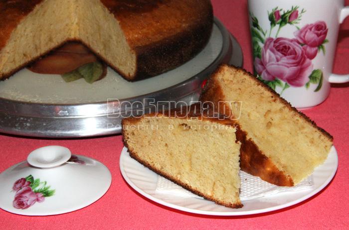 Рецепт простого торта большого размера - очень вкусный и сытный