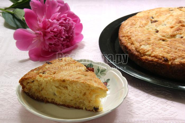 Рецепт творожного кекса с изюмом