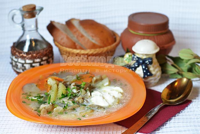 Грибной суп из вешенок, как сварить вкусно