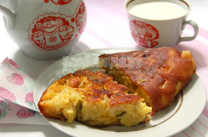 Фруктовый пирог, рецепт фруктов жареных в тесте