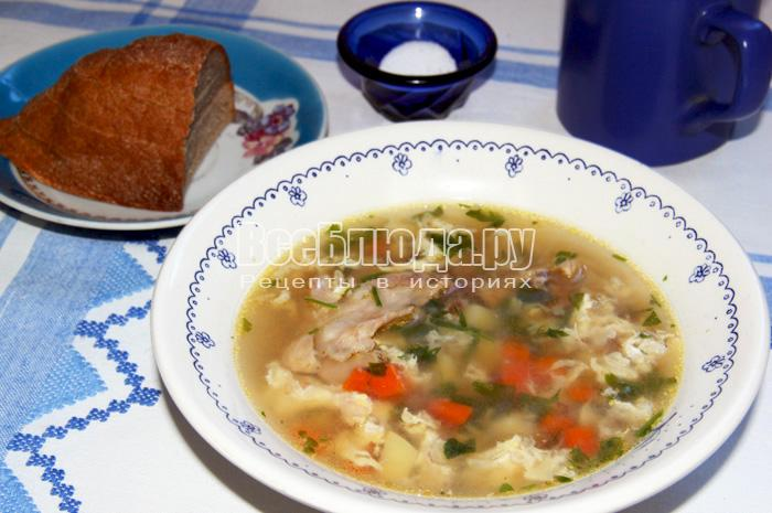 Рецепт гречневого супа с яйцом