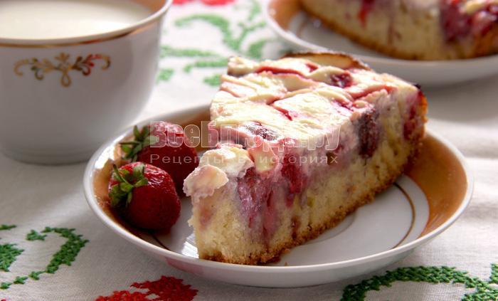 творожный пай с ягодамирецепт