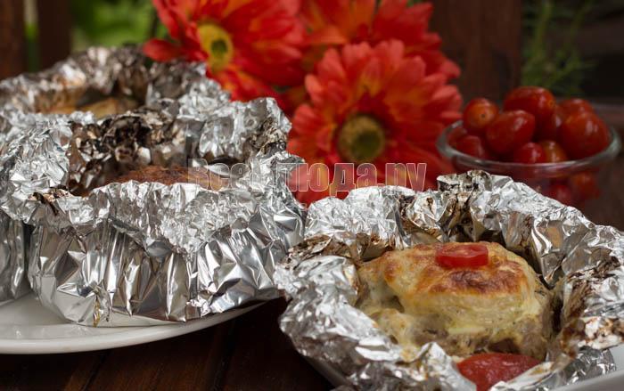 мясо с в фольге в духовке рецепт с фото