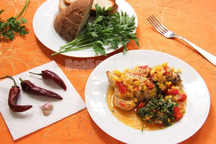 Рецепт курицы по-мексикански с овощами