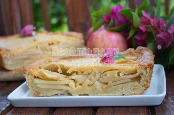 Рецепт Цветаевского пирога с яблоками