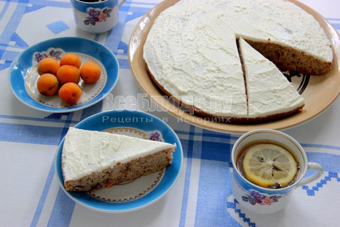 Бисквитный кекс с абрикосами