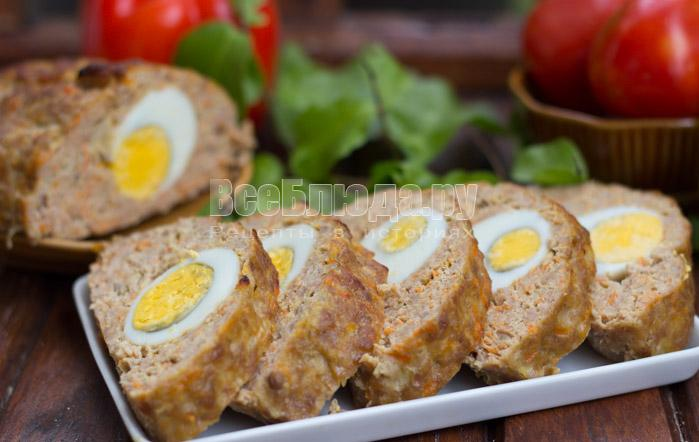 рецепт рулетов из фарша с яйцами с фото