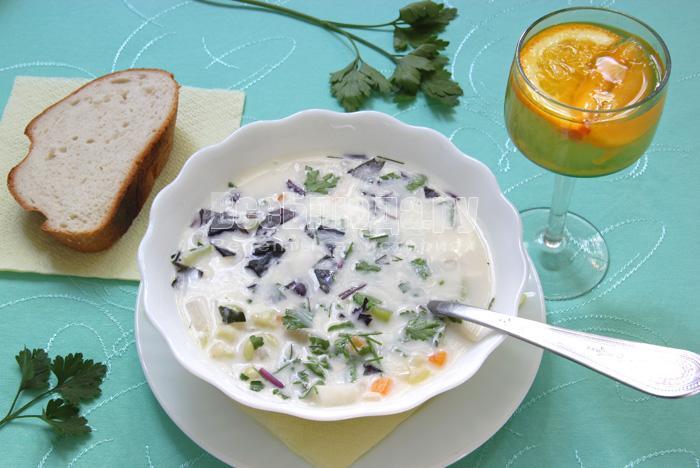 рецепт легкого супа с горохом