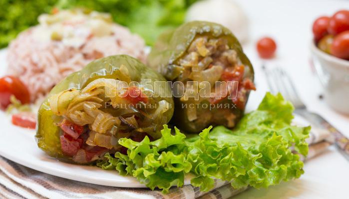 Как приготовить фаршированный перец в сливках, запеченный в духовке в кулинарном пакете