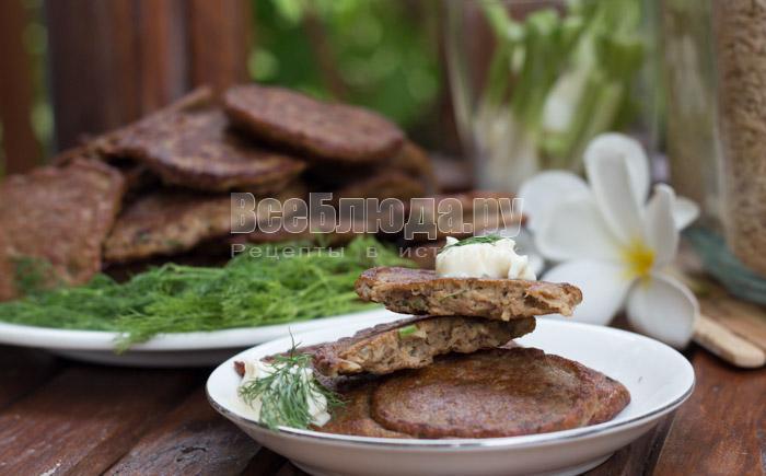 Рецепт оладий из печени (куриной) - пошаговые фото