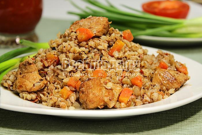 Рецепт гречневой каши с мясом и овощами