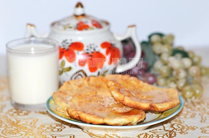 Пышки на сыворотке (ананасовой), жарим на сковороде