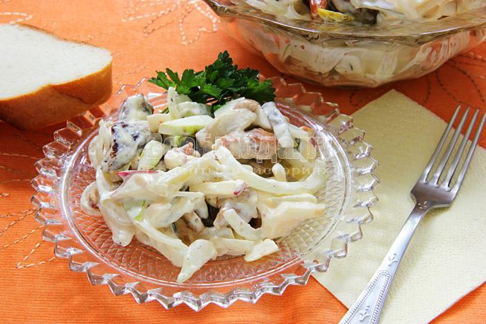 Рецепт Пражского салата со свининой и телятиной