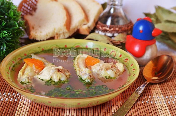 Рецепт куриного бульона (для больного)