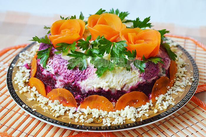 как интересно подать салат под шубой рецепт фото